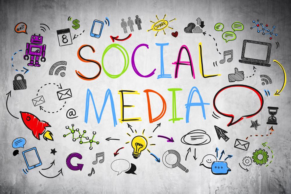 Colourful Social Media Sketch.